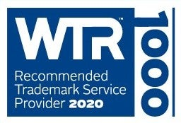 World Trademark Review 2020 Recommended Trademark Service Provider