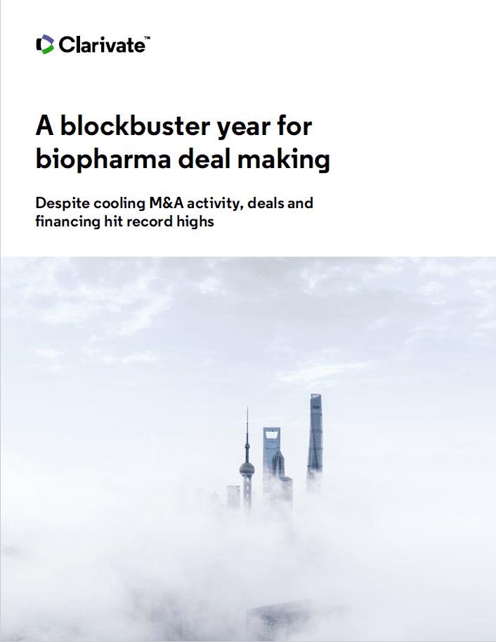 blockbuster year for biopharma dealmaking