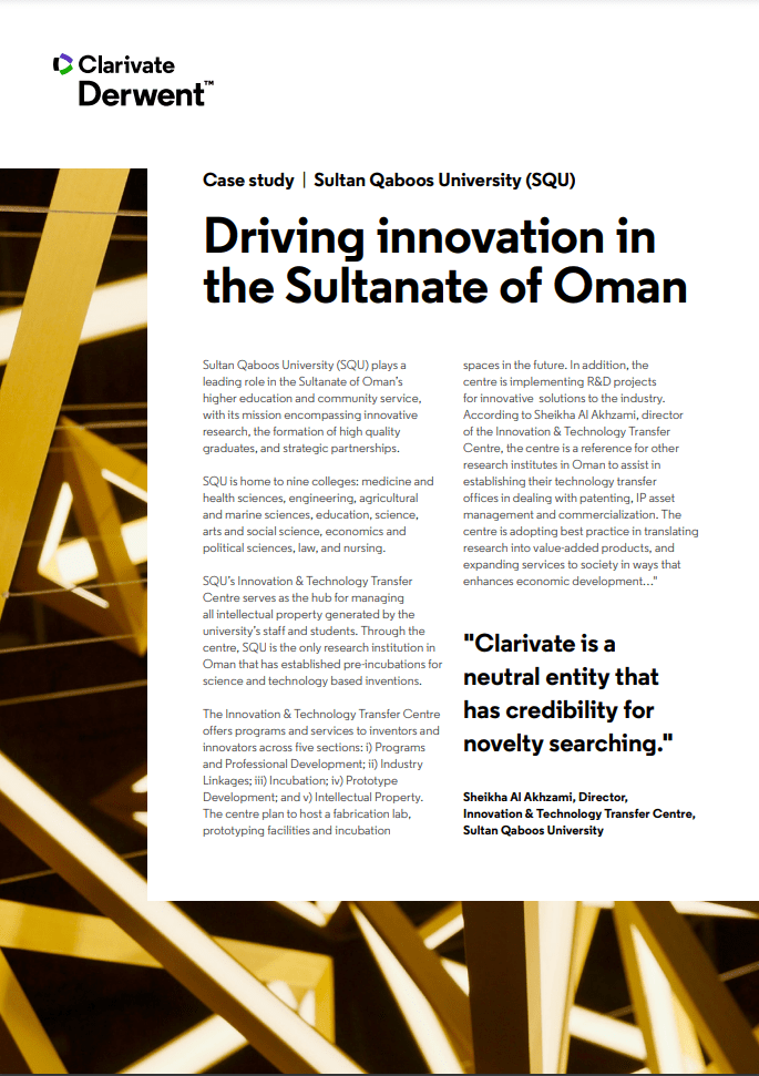 Driving innovation in the Sultanate of Oman