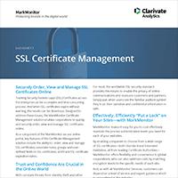 SSL Certificate Management datasheet