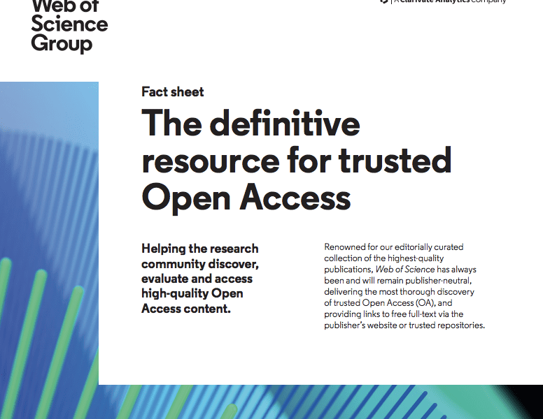 Open Access - Web of Science Group