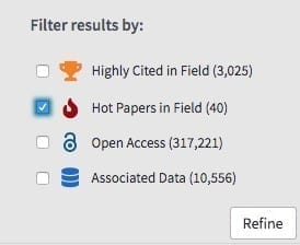Highly Cited and Hot Papers in Field