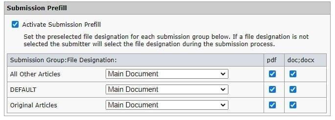 Submission Prefill Configuration Image
