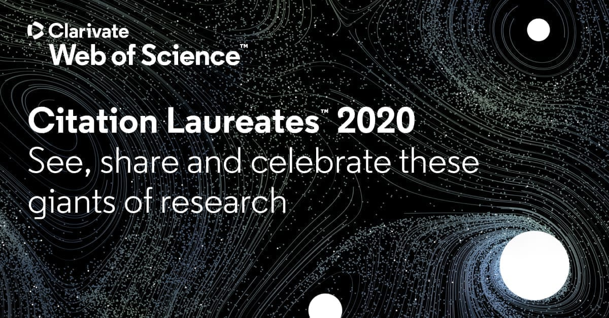 Announcing the 2020 Citation Laureates - Web of Science Group
