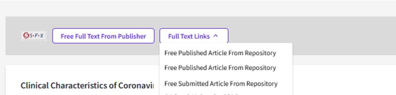 OA links options